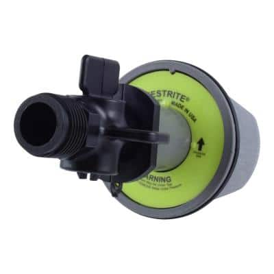 Testrite 2 in. PVC Schedule 40 Test Plug with Valve Fitting