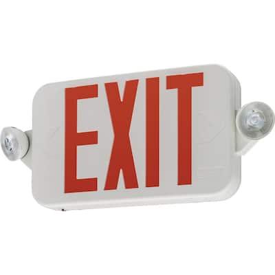 Contractor Select ECRG RD 20-Watt Equivalent 120-Volt - 277Volt  Integrated LED White Exit/Emergency Combo Unit