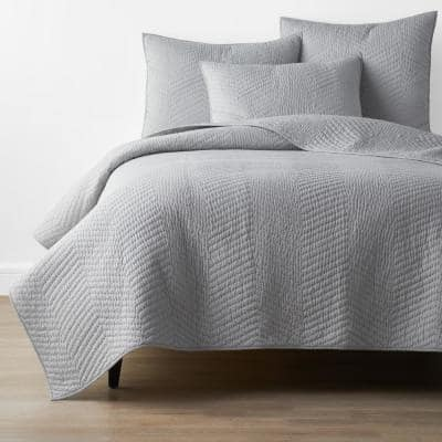 Company Cotton Gray Solid Full/Queen Quilt