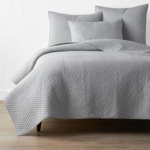 Company Cotton Gray Solid King Quilt