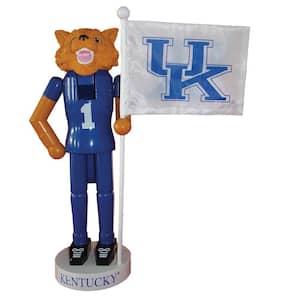12 in. Kentucky Mascot Nutcracker with Flag