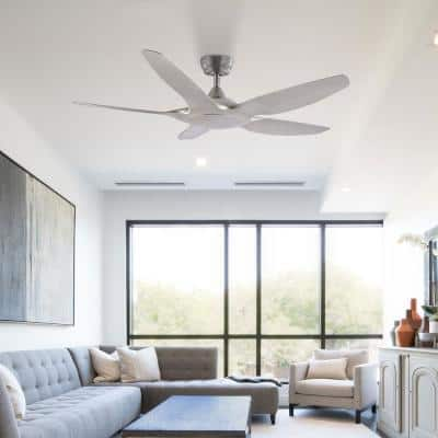 48 in. Brushed Nickel 5-Blade Ceiling Fan with Remote Control