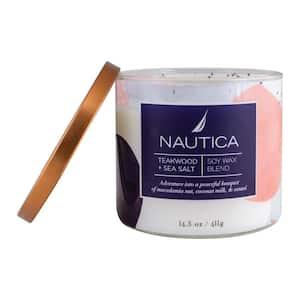 14.5 oz. Gilded Sun and White Tea Aloe Multi-Colored Fresh 3-Wick Jar Candle