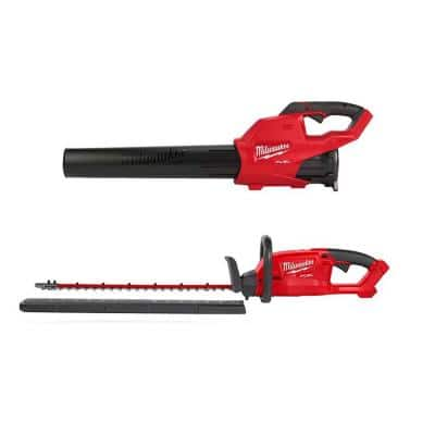 M18 FUEL 120 MPH 450 CFM 18-Volt Lithium-Ion Brushless Cordless Handheld Blower with M18 FUEL Hedge Trimmer