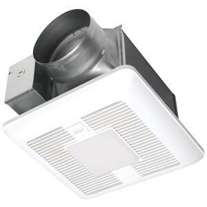 WhisperGreen Select Pick-A-Flow 110/130/150 CFM Exhaust Fan LED Light Flex-Z Fast Install bracket 6 in. duct adapter