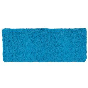 Shag Blue 24 in. x 60 in. Memory Foam Bath Mat