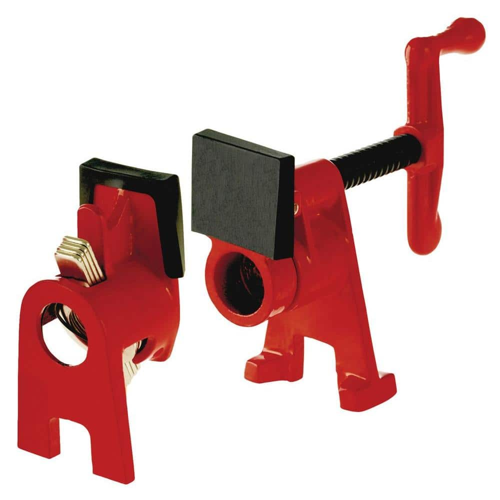 3//4 Woodworking Workbench Quick Release Heavy Duty Wide Base Iron Wood Metal Clamp Wood Gluing Pipe Clamp Set Pipe Clamps