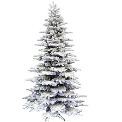 6.5 ft. White Pine Snowy Artificial Christmas Tree