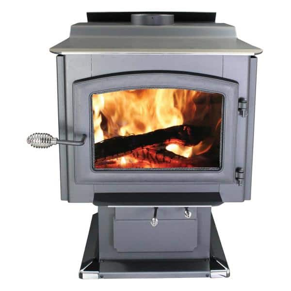Ashley Hearth Products 3 200 Sq Ft Epa Certified Pedestal Wood Burning Stove With Blower Aw3200e P The Home Depot