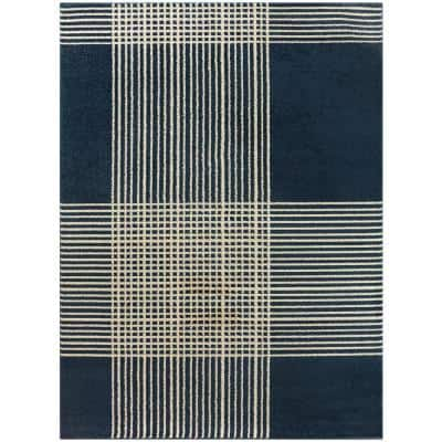 Plaid 8 X 10 Blue Area Rugs Rugs The Home Depot