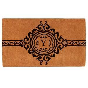 Garbo Monogram Door Mat, Extra-Thick 24 in. x 36 in. (Letter Y)