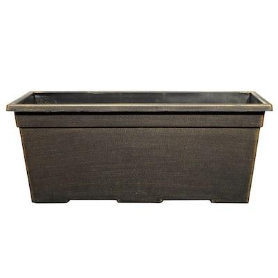 15 in. x 7.99 in. Black/Bronze Plastic Window Box