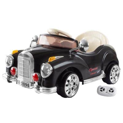Battery Powered Ride on Toy Classic Car Coupe in Black