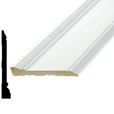 WPSM 12 11/16 in. x 5-1/4 in. x 96 in. Primed Pine Finger-Jointed Base Moulding