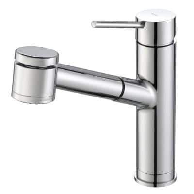Oletto Single-Handle Pull-Out Sprayer Kitchen Faucet in Chrome