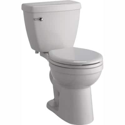 Foundations 2-Piece 1.28 GPF Single Flush Round Front Toilet with Sanborne Slow-Close Seat in White