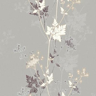 Tara Bronze Sprig Neutral Wallpaper Sample