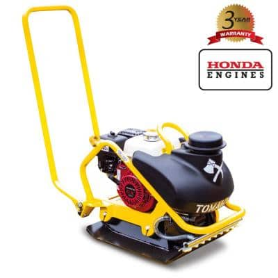 5.5 HP Honda Vibratory Plate Compactor for Asphalt, Aggregate, Cohesive Soil Compaction with 3.5 Gal. Water Tank