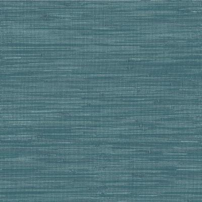 Navy Grassweave Blue Textured Wallpaper Sample