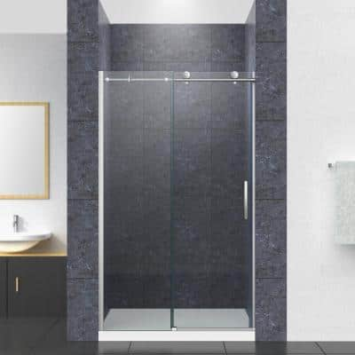 Composed 59.875 in. x 78 in. Frameless Sliding Shower Door in Crystal Clear