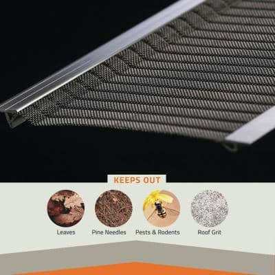 4 ft. L x 6 in. W Stainless Steel Micro-Mesh Gutter Guard (3-Pack)