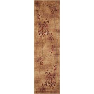 Somerset Latte 2 ft. x 6 ft. Oriental Modern Runner Rug