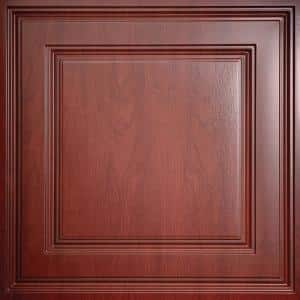 Stratford Faux Wood-Cherry Feather-Light 2 ft. x 2 ft. Lay-In Ceiling Tile (160 sq. ft. / case)