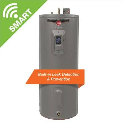 Gladiator 55 Gal. Tall 12 Year 4500/4500-Watt Smart Electric Water Heater with Leak Detection and Auto Shutoff