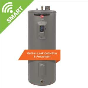 Gladiator 55 Gal. Tall 12 Year 5500/5500-Watt Smart Electric Water Heater with Leak Detection and Auto Shutoff