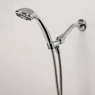 1-Spray 3.3 in. Single Wall Mount Handheld Shower Head in Chrome