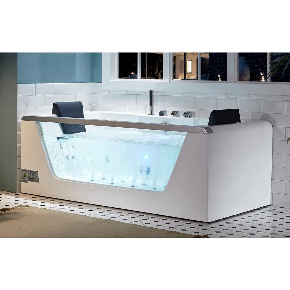 Product Image of the EAGO Clear Rectangular Whirlpool