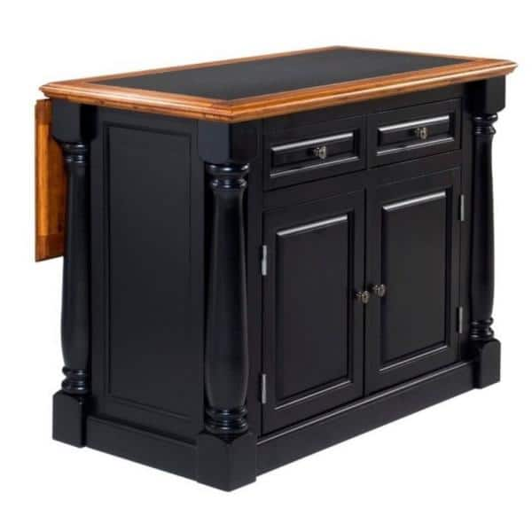 Homestyles Monarch Black And Oak Kitchen Island With Granite Top 5009 94 The Home Depot