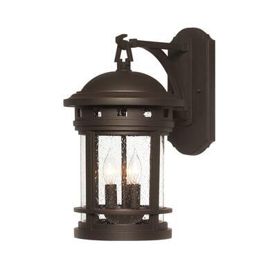 Sedona 3-Light Oil-Rubbed Bronze Outdoor Wall Lantern Sconce