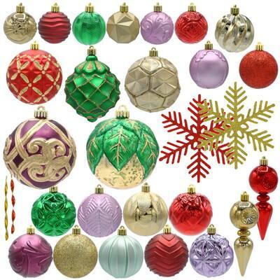 Warm Tidings Assorted Ornament Set (75-Count)