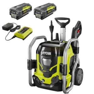 40V 1,500 PSI 1.2 GPM Cordless Cold Water Electric Pressure Washer with (2) 5.0 Ah Batteries and Charger