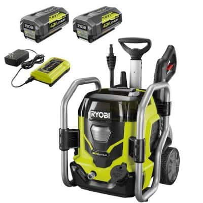 40-Volt 1500 PSI 1.2 GPM Cordless Cold Water Electric Pressure Washer with (2) 5.0 Ah Batteries and Charger