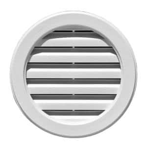 22 in. x 22 in. Polypropylene White Round Gable Vent
