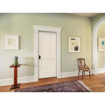 24 in. x 80 in. Monroe Primed Smooth Solid Core Molded Composite MDF Interior Door Slab