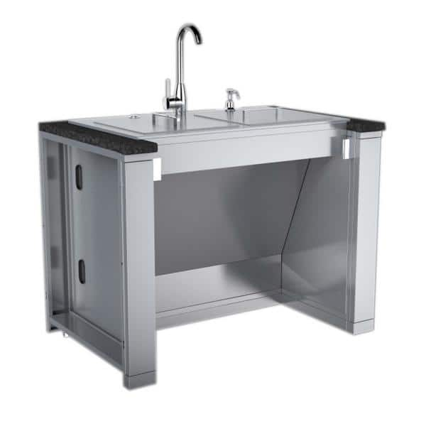 Sunstone 44 In X 32 In X 28 25 In Stainless Steel Ada Compliant Combo Sink Outdoor Kitchen Cabinet Ada44bc The Home Depot