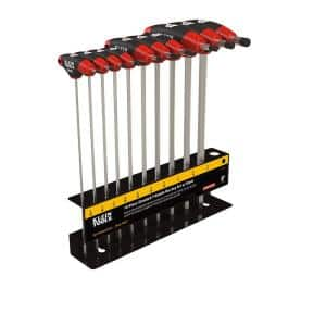 SAE T-Handle Set with 9 in. L Stand (10-Piece)