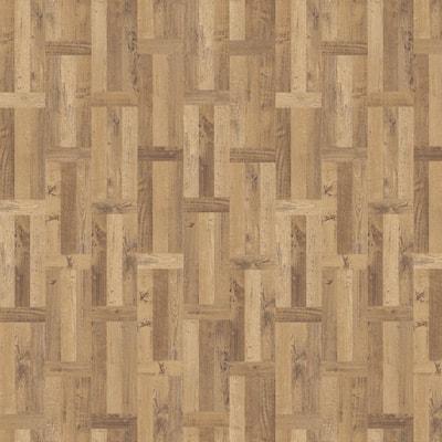 Haystack 11.89 in. W x 27.87 in. L Parquet Luxury Vinyl Plank Flooring (23 sq. ft. / case)