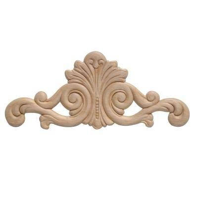 DM 3626 1/4 in. x 3-1/8 in. x 7-5/8 in. Birch Applique Moulding for Walls and Mantels