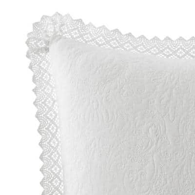 La Solid Crochet Cotton Pillow Sham (Set of 2)