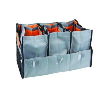 Travel Solutions Trunk Organizer with 3-Compartment and Reusable, Lined Totes