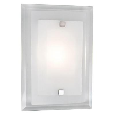 Norfolk 1-Light Polished Chrome Sconce with Frosted Glass Shade