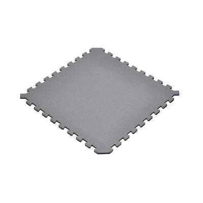 Gray/Black 24 in. x 24 in. EVA Foam Truly Reversible Interlocking Tile (18-Tile)