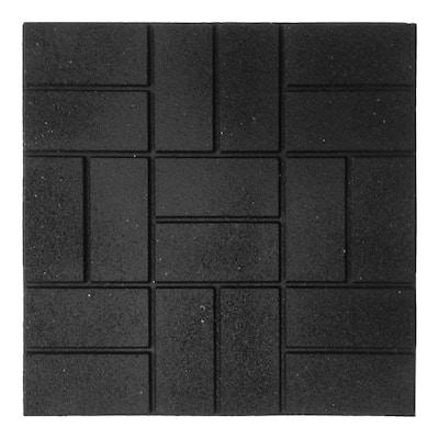 24 in. x 24 in. XL Brick Black Paver