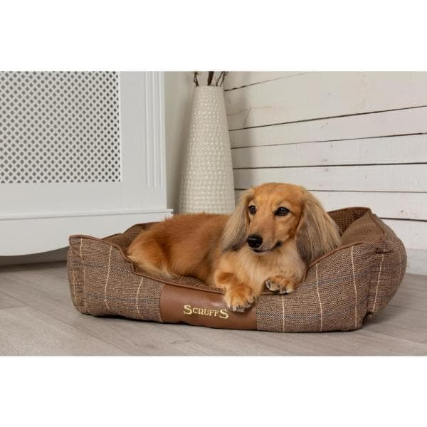 Scruffs Windsor Medium Chestnut Polyester Box Dog Bed Bed Rcd 938598 The Home Depot