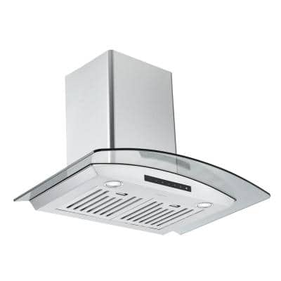 GCL630 30 in. Convertible Wall Mounted Range Hood in Stainless Steel with Night Light Feature