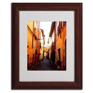 11 in. x 14 in. Campo De Fiori Alley Matted Framed Art